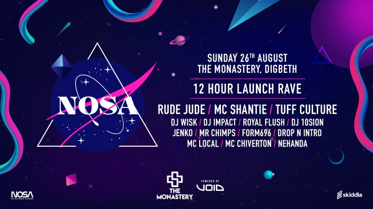 nosa, rave, birmingham, 12 hour rave, party, the monastery, digbeth, new music, ukg, uk garage, dj wisk, rude jude, mc shantie, tuff culture, dj impact, rinse fm, flex fm, party, royal flush, new music, uk garage, grime, bassline